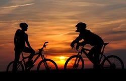 гора велосипедиста стоковое изображение rf