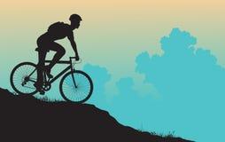 гора велосипедиста бесплатная иллюстрация