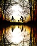 гора велосипедистов Стоковое Изображение