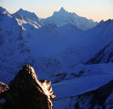 гора вечера elbrus зоны снежная Стоковая Фотография RF