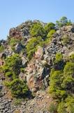 гора вулканическая Стоковые Фотографии RF