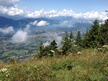 Гора в горных вершинах Стоковые Изображения RF