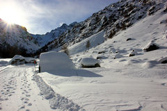 Гора в зиме Стоковые Фотографии RF