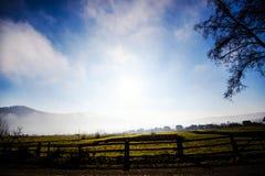 Гора в облаке и тумане Положение прикарпатское, Украина, Европа Исследуйте красоту земли Заход солнца утра облаков стоковые фотографии rf