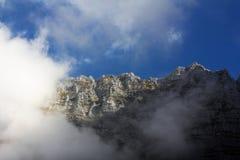 Гора в облаках Стоковая Фотография