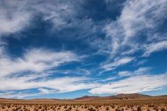 Гора в просторной боливийской пустыне стоковое фото rf