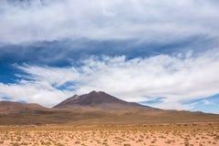 Гора в просторной боливийской пустыне стоковое изображение rf