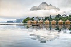 Гора в тумане Стоковое Фото