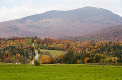 Гора в цвете осени стоковые изображения