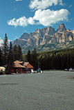 Гора замка, национальный парк Banff, Альберта, Канада. Стоковые Изображения RF