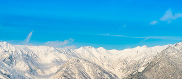 Гора зимы Японии при покрытый снег Стоковая Фотография