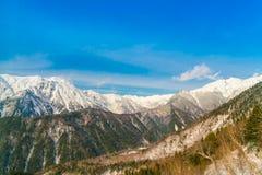Гора зимы Японии при покрытый снег Стоковые Фотографии RF