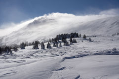 Гора зимы Стоковые Изображения RF