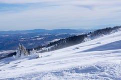 Гора зимы Стоковая Фотография