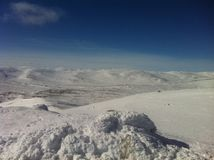 Гора зимы Стоковое Фото
