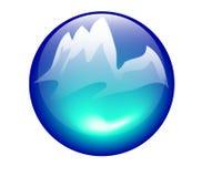 гора иконы Стоковое Изображение