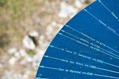 гора индикатора стоковая фотография rf