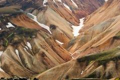 Гора Исландия цвета Стоковые Фото