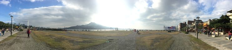 Гора и вид на море Tamsui стоковая фотография rf
