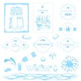 Гора и водопад воды иллюстрация вектора