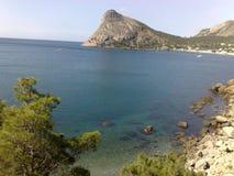 Гора и залив Стоковое Изображение RF