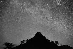 Гора и звезда Стоковая Фотография RF