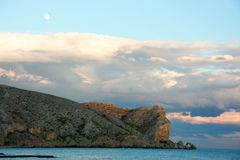 Гора и море Стоковые Фото