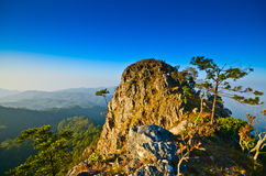 Гора и небо Стоковое Изображение