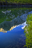 Гора и озеро Стоковые Изображения RF