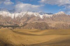 Гора и пустыня снега стоковое изображение rf