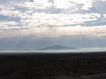Гора и пыль стоковые изображения