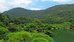 Гора и сад Takamatsu Япония Ritsurin Koen Стоковая Фотография