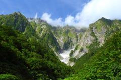 Гора и снежная долина Стоковое Изображение RF