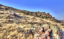 Гора и утесы в HDR Стоковые Фото