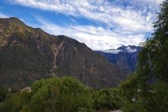Гора Китая западная Сычуань villiage danba стоковая фотография