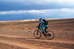 гора конкуренции bike приключения Стоковые Фото