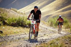 гора конкуренции bike приключения Стоковые Фотографии RF