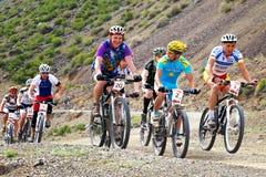 гора конкуренции bike приключения Стоковое Изображение