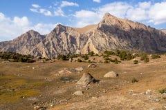 Гора красивая, гора Таджикистана Fann, озера Kulikalon стоковое изображение
