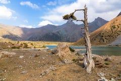 Гора красивая, гора Таджикистана Fann, озера Kulikalon стоковая фотография rf
