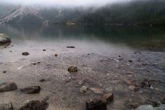 Гора к озеру около Zakopane, горам Morskie Oko Tatra Стоковое Изображение