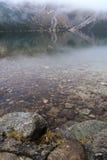 Гора к озеру около Zakopane, горам Morskie Oko Tatra Стоковые Изображения