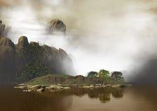 гора ландшафта неровная Стоковые Изображения RF