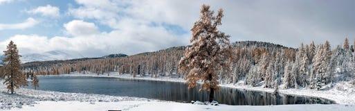 гора ландшафта озера Стоковое фото RF