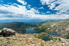 гора ландшафта озер Стоковые Изображения RF