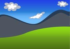гора ландшафта предпосылки Стоковая Фотография