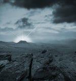 гора ландшафта фантазии Стоковые Изображения RF