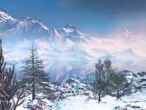 гора ландшафта иллюстрация вектора
