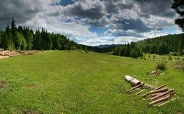 гора лужка Стоковое Изображение