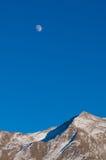 гора луны над подъемом Стоковое Изображение